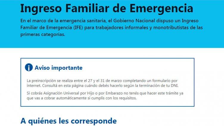 Ingreso Familiar de Emergencia: Quiénes empezarán a cobrar $10.000 esta semana