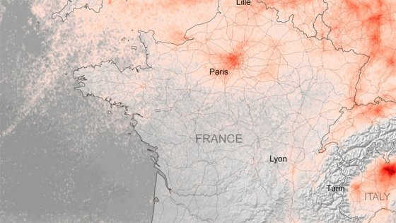 Coronavirus: Desde el espacio muestran la caída de la contaminación en Europa