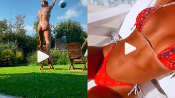 Videos al rojo vivo: Sol Pérez le pone calor a la cuarentena con diminuta bikini