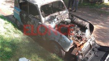 Un hombre prendió fuego un vehículo y roció con nafta a su ex pareja