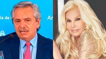 Susana Giménez elogió a Alberto Fernández y el Presidente le agradeció