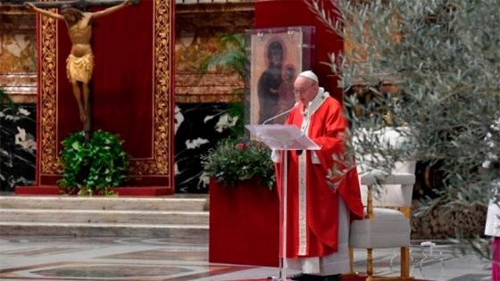 Videos: El papa Francisco ofició la misa de Domingo de Ramos en el Vaticano