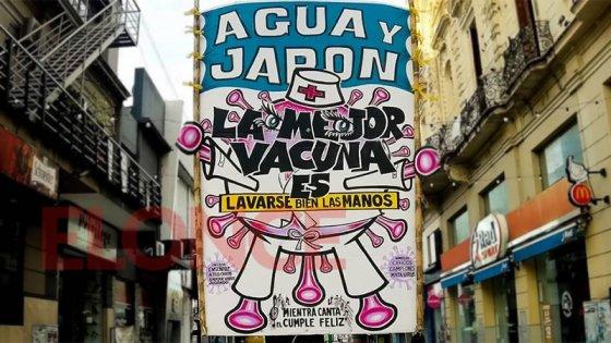 Curiosa intervención en peatonal San Martín insta a