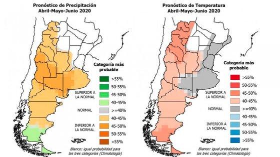 Lluvias y temperaturas: El pronóstico para abril, mayo y junio