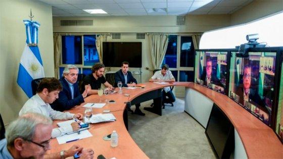 Fernández encabeza videoconferencia con gobernadores para definir la cuarentena