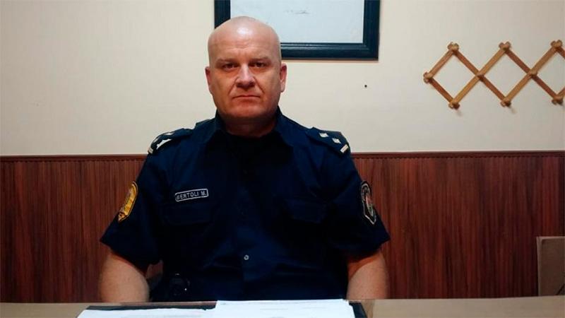 El jefe de la comisaría de Crespo, Mario Bertoli.-