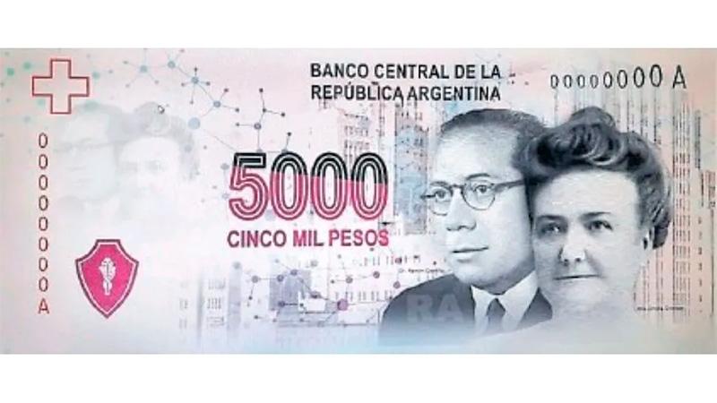 Facsímil de la muestra del billete al que accedió La Nación.-