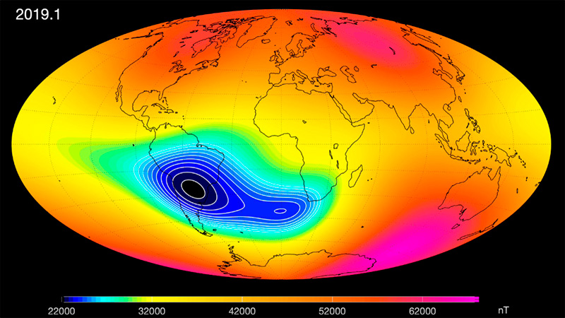 El campo magnético de la Tierra se debilita gradualmente