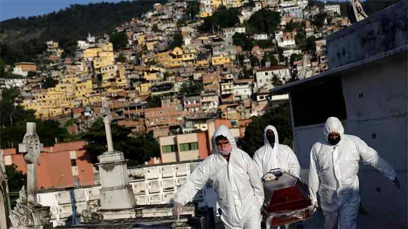 Brasil ya suma 22.013 muertos por coronavirus: La pandemia duraría hasta octubre