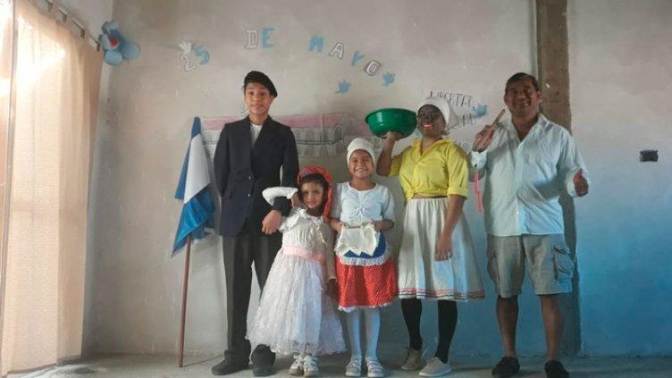 Los estudiantes festejaron el acto del 25 de Mayo de manera virtual