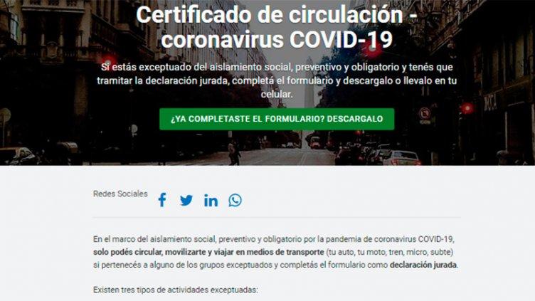 Certificados para circular: Habrá tres tipos y uno tendrá validez por 48 horas