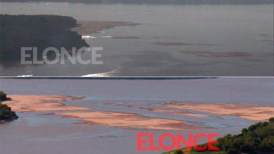 Con el repunte del río, desapareció el banco de arena que emergió en Paraná