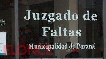 El Juzgado de Faltas de Paraná permanecerá cerrado el lunes 22 por desinfección