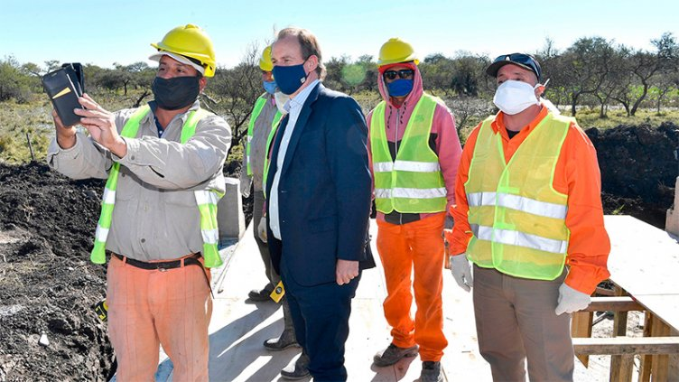 Bordet resaltó la reactivación de las obras viales que generan empleo