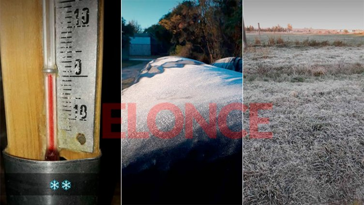 Con el termómetro en 0ºC: Las postales de la helada en campos entrerrianos