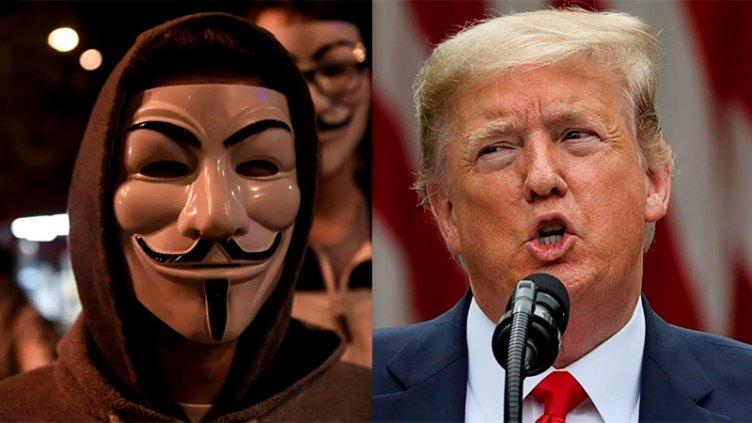 Grave acusación de Anonymous contra Trump: Lo vinculó a una red de pedofilia
