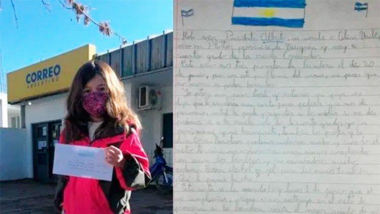 La propuesta de una niña al Presidente para poder jurar la Bandera