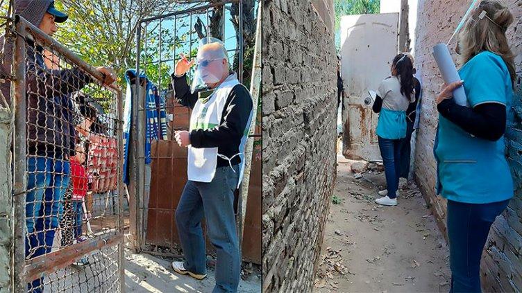 Casa por casa, buscarán detectar casos sospechosos de covid-19 en Paraná