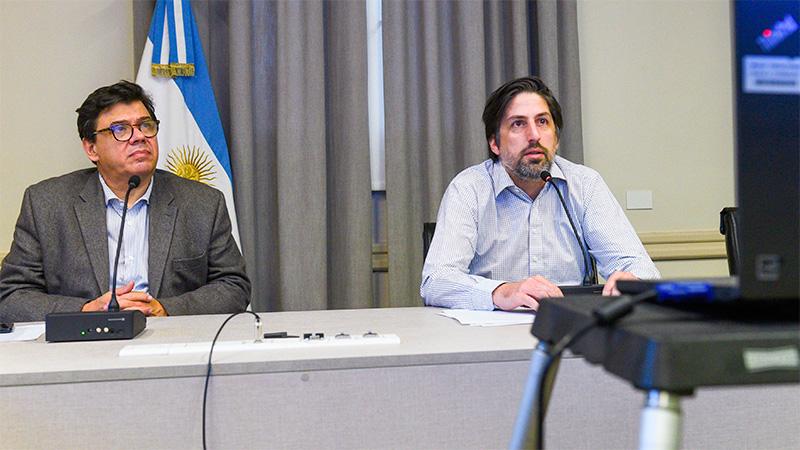 Trotta y Moroni en diálogo virtual con gremios docentes