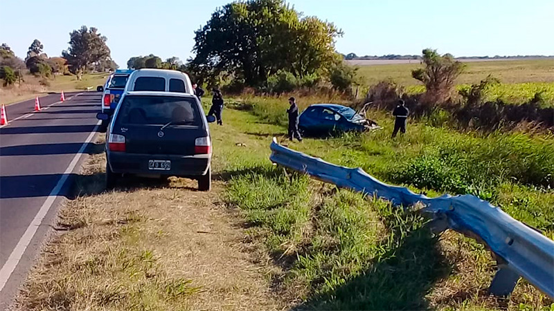 Accidente en Ruta 11, registrado en junio pasado.-