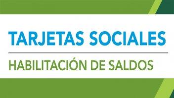 El próximo lunes se acreditarán las tarjetas sociales