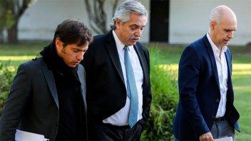 Definiciones sobre la cuarentena: Fernández se reúne con Larreta y Kicillof