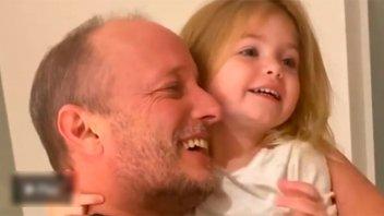 Jésica Cirio mostró el momento en el que Insaurralde se reencontró con su hija