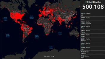 Más 500.000 personas fallecieron por coronavirus en el mundo