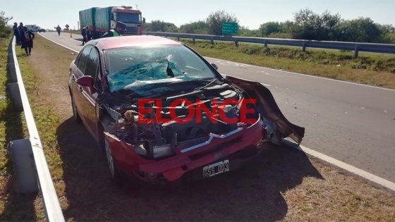 Fotos: Se descompensó al volante, chocó un camión y debió ser hospitalizado