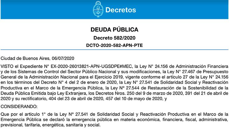 El Gobierno oficializó la propuesta de canje de deuda pública: El decreto