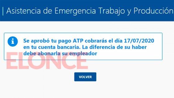 Pagos de sueldos a privados: Ya se puede consultar fecha de cobro del ATP