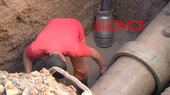 Se extiende el corte de agua por reparación de caño en calle Sebastián Vásquez