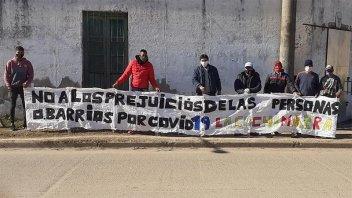 Vecinos protestaron por quedar estigmatizados culpa de un audio falso