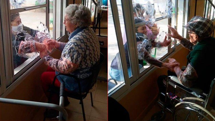 Pura emoción: Así los abuelos pueden ver a familiares en geriátrico entrerriano