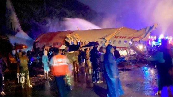 Se estrelló un avión con 200 pasajeros en India: al menos 15 muertos