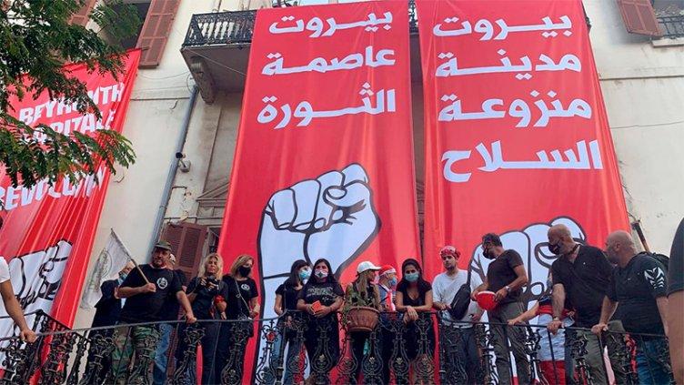 Miles de libaneses protestaron tras las explosiones en Beirut