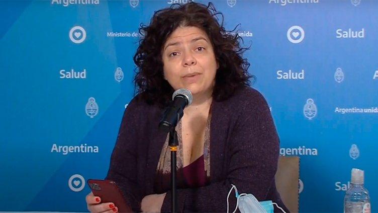 La ministra de Salud, Carla Vizzotti, se contagió de coronavirus