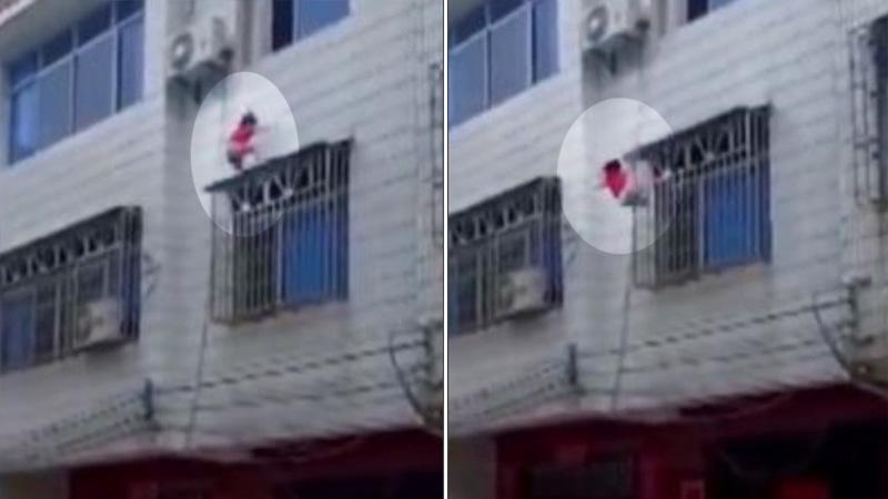Una niña cayó desde un tercer piso y fue salvada por vecinos