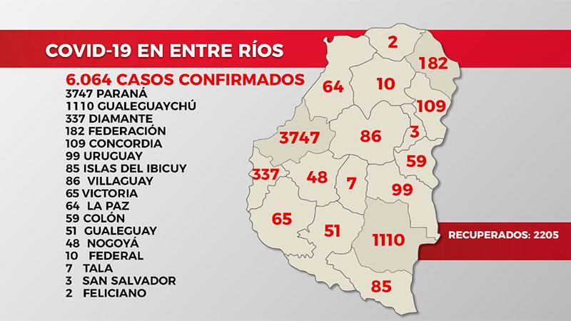 La distribución por localidades de los 173 casos de coronavirus: El detalle