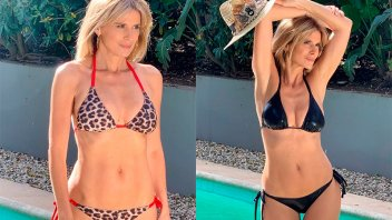 A los 54 años,  Flavia Palmiero mostró sus curvas en bikini