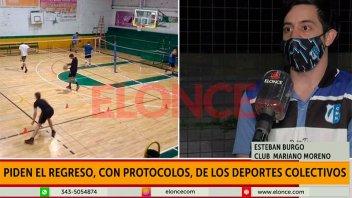 Deportes colectivos: Piden volver a entrenar bajo protocolos