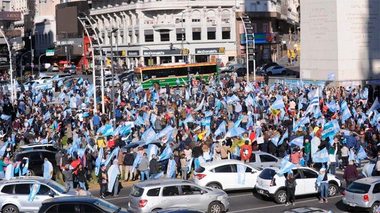 Nuevo banderazo contra las políticas del Gobierno en varias ciudades argentinas
