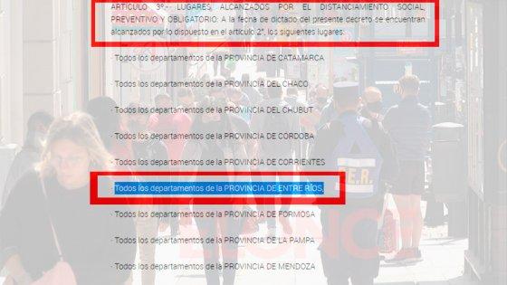 Oficializan que Paraná y Gualeguaychú salen del aislamiento: Qué dice el decreto