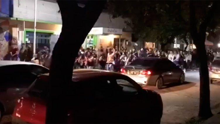 Festejos de estudiantes en Chajarí:
