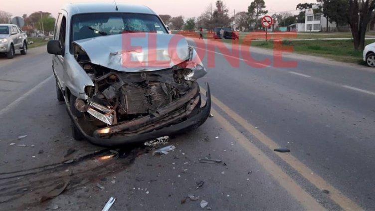 Impactante choque en cadena: conductor