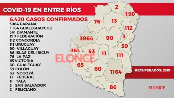 La distribución por localidades de los 76 casos de coronavirus: El detalle