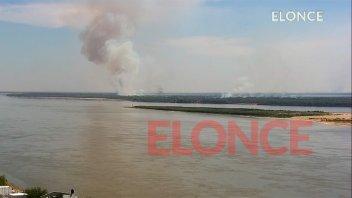 Se observaron alrededor de 12 incendios en zona de islas frente a Paraná