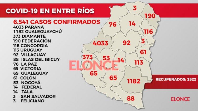 La distribución por localidades de los 121 casos de coronavirus: El detalle