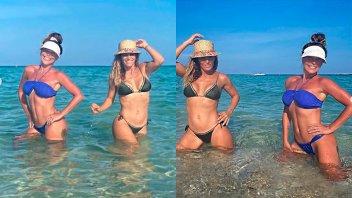 Mónica Ayos se encontró en el mar con otra diosa argentina