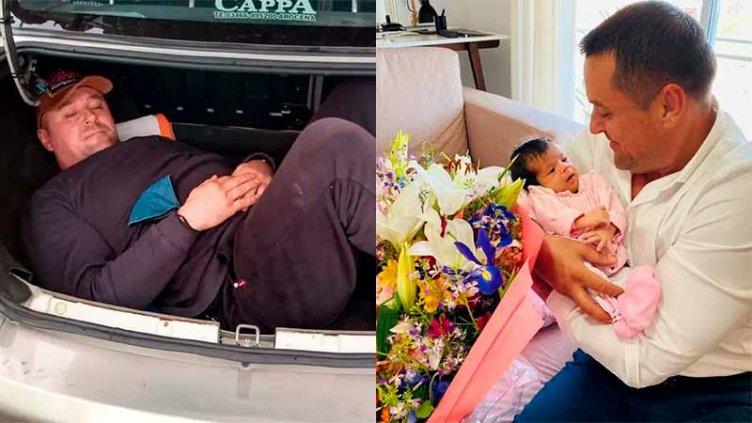 Conoció a su hija el ucraniano que viajaba por Entre Ríos en el baúl de un auto
